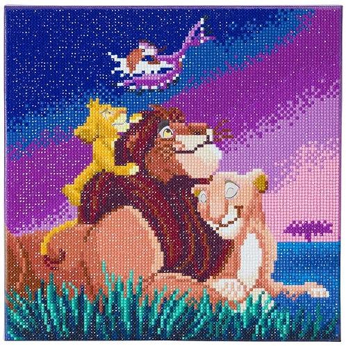 Disney Crystal Art Canvas - Lion King Family 30 x 30cm