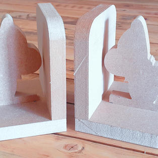 Wooden book ends