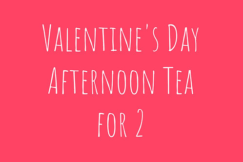 Valentine's Day Afternoon Tea for 2 plus Prosecco