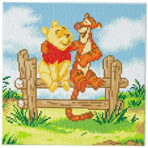 Disney Crystal Art Canvas - Pooh and Tigger 30 x 30cm