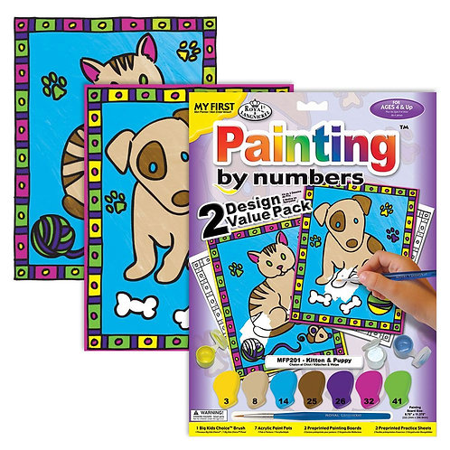 Kitten and Puppy - Junior Paint by Numbers