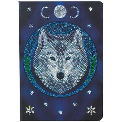 Crystal Art Notebook - Lunar Wolf by Anne Stokes