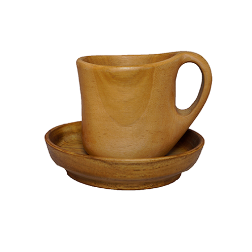Teak Cup & Plate