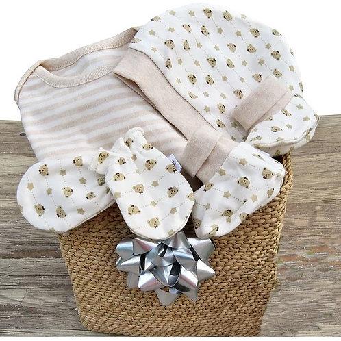 Gift Set Striped Brown