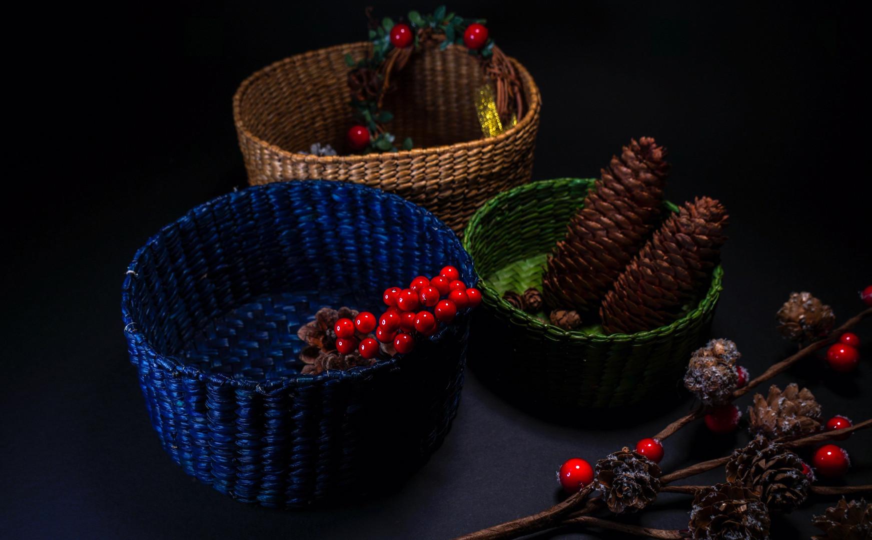 Christmas Table Baskets