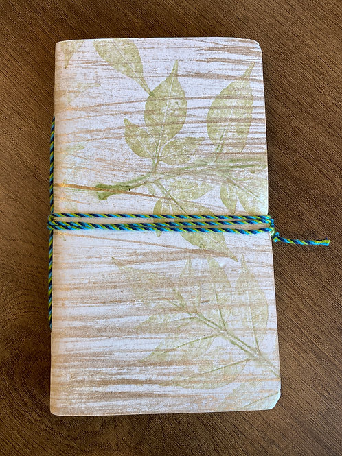 Cotton Notebook with Leaf