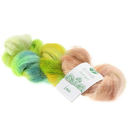 Silk Hair Hand Dyed