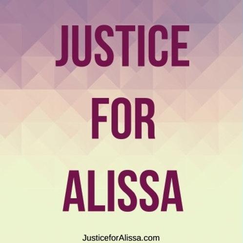 """Justice for Alissa 4.5""""x4.5"""" Square Sticker"""