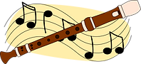 Cartoon Musical Instrument Soprano Recorder