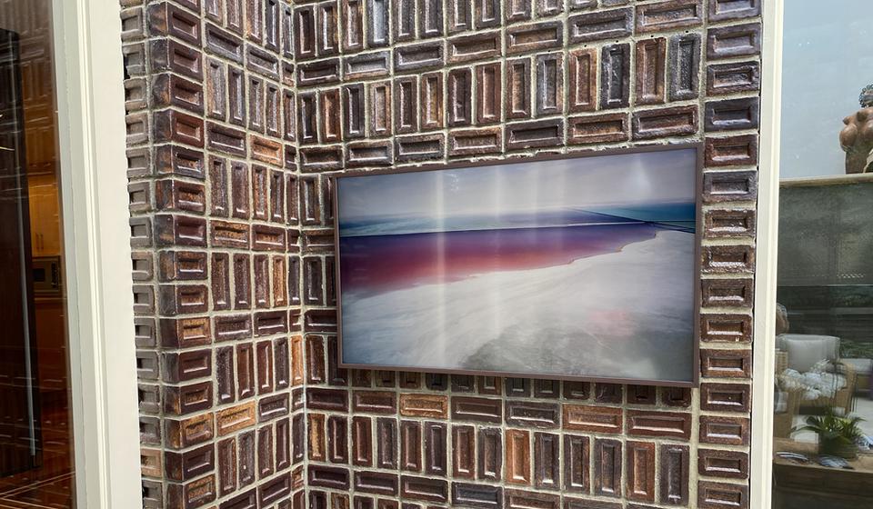 Samsung Frame TV @ Indoor Pool
