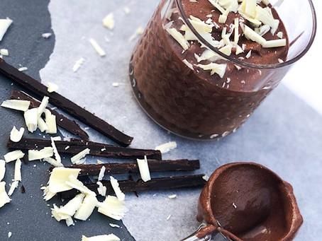 Chocolademousse   Mousse met geschaafde witte chocolade