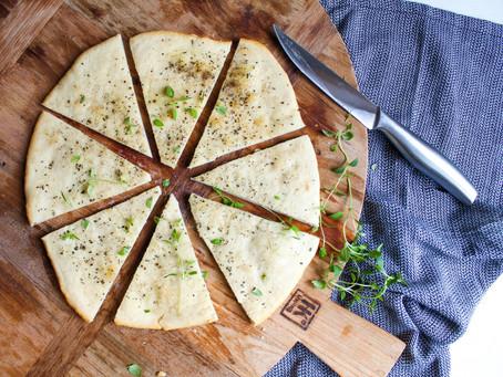 Pizzabrood voor bij soep of salades