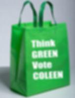 think green vote coleen bag.jpg