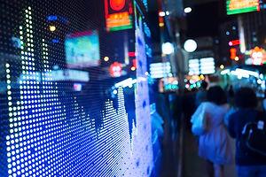 Anzeige der Aktienmarkt Anführungszeiche