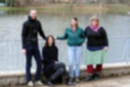 Das Team des Leipziger Unverpackt Ladens LIEBER LOSE Leipzig, Anna Haack, Florian Wüstneck, Judith Bergmann, Jule Lemmerman und Inhabein Franziska Frank