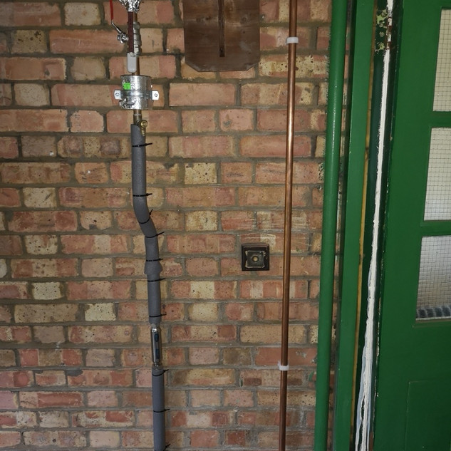 mains cold and gas pipework