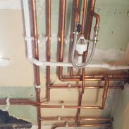 New installation. Boiler pipework
