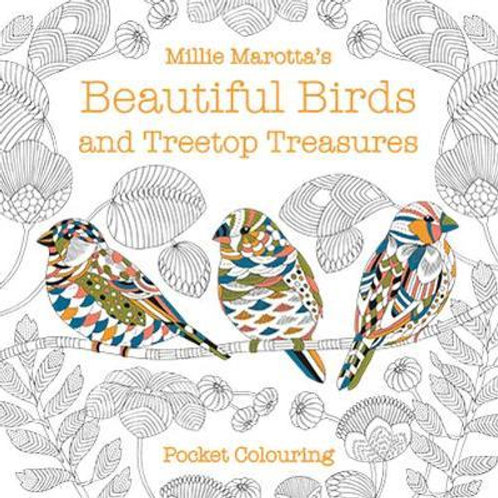 Millie Marotta's Beautiful Birds and Treetop Treasures Pocket Colouring Millie M