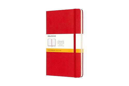 Moleskine Large Ruled Notebook Red