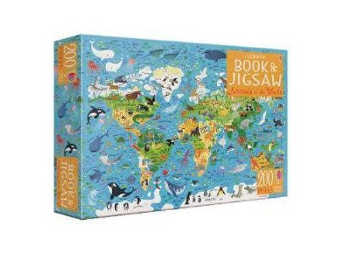 Animals of the World Book and Jigsaw Sam Smith