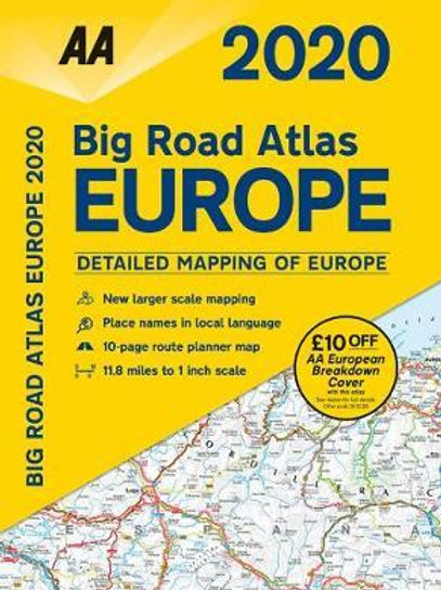 AA Big Road Atlas Europe 2020