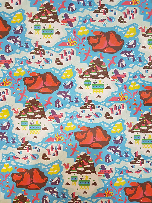Seals and Islands Sheet Gift Wrap