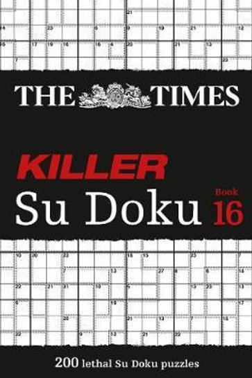 Times Killer Su Doku Book 16       by The Times Mind Games