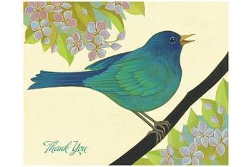 Thank You Cards x 10 Pomegranate - Blue Bird of Happiness