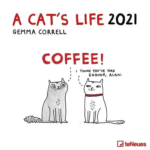 A Cat's Life 2021 wall calendar