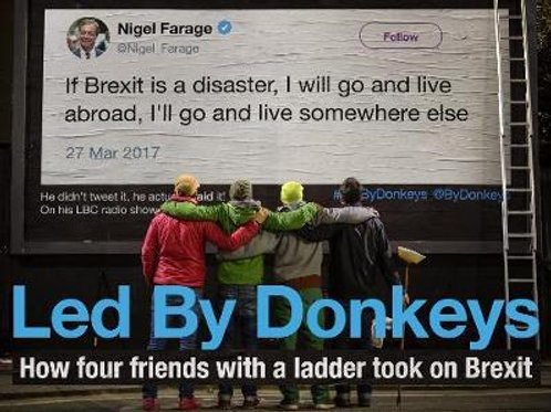 Led by Donkeys: How four friends with a ladder took on Brexit  LedByDonkeys