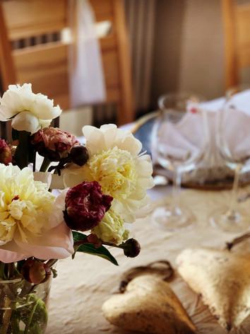 Table de mariée fleur