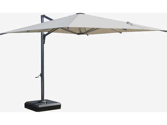 Feruci 10'x10' Silver pole Umbrella w/giant base