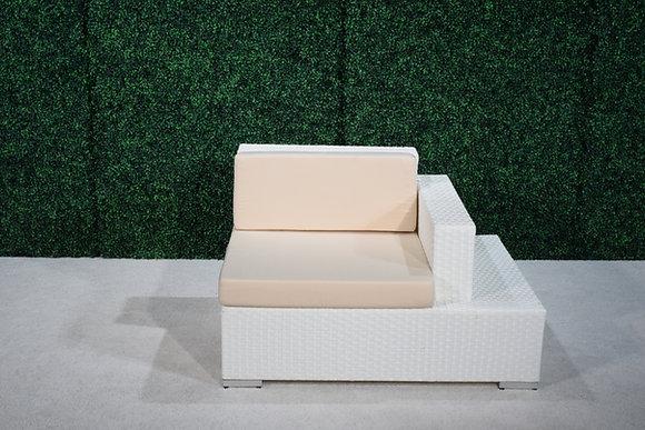 Feruci Fidji Right Side Seat w/ built-in side table (white)