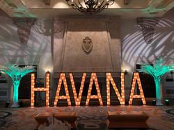 7' tall havana letters