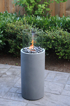 Cylindrical Gas Firepit