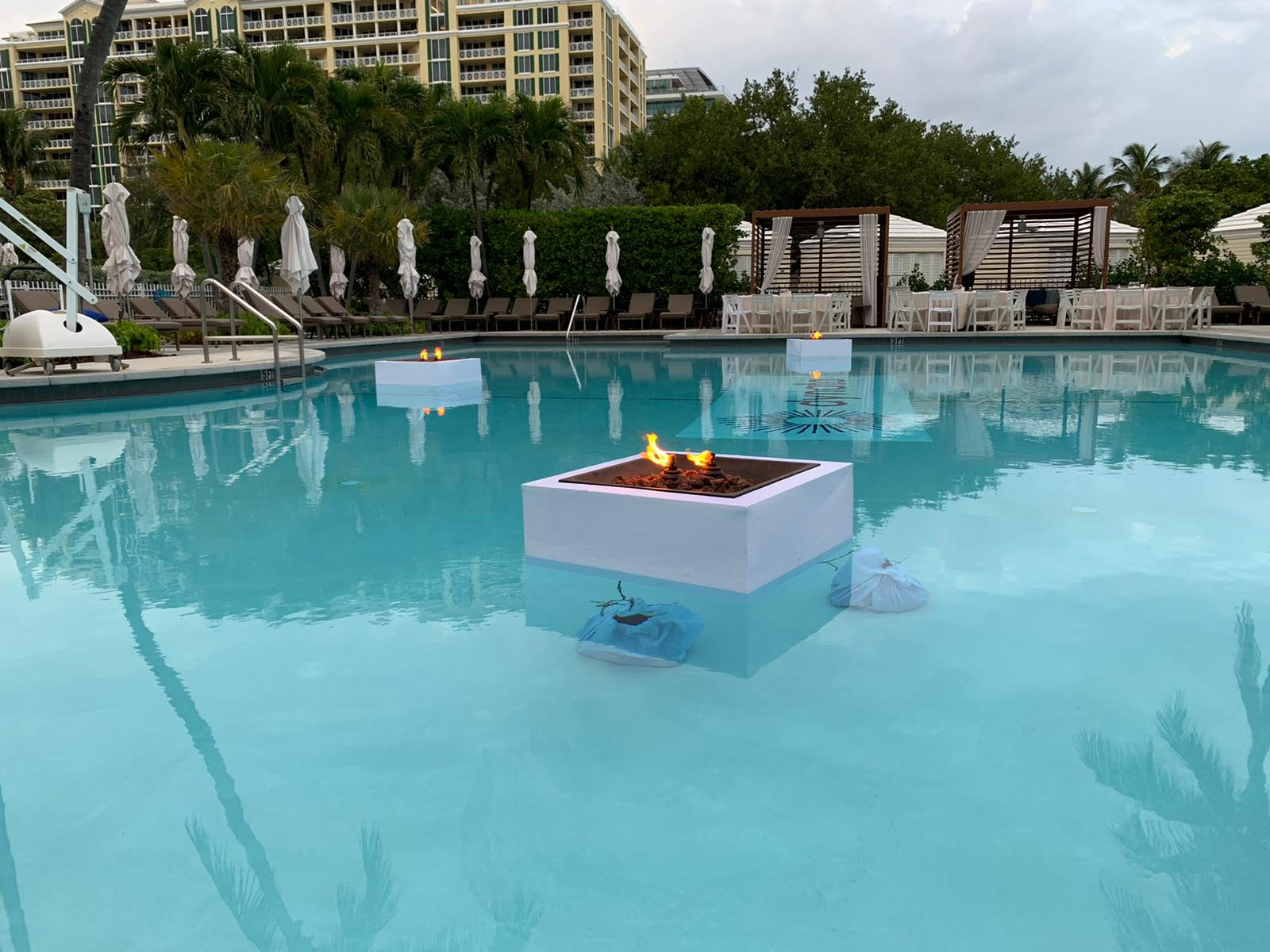 Floating Firepits Ritz Carlton Key Bisca