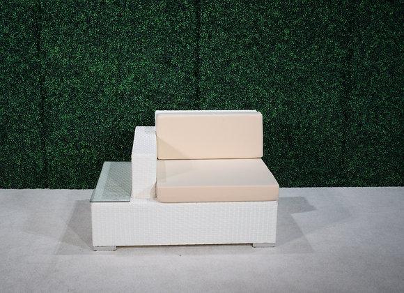 Feruci Fidji Left Side Seat w/ built-in side table (white)