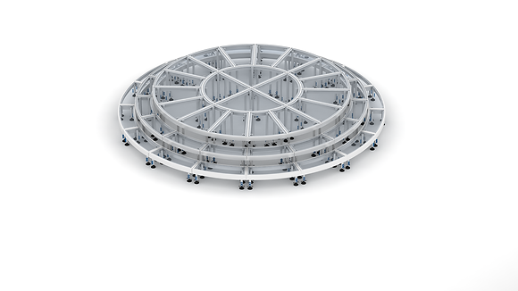 16' ACRYLIC CIRCLE STAGE WITH STEPS