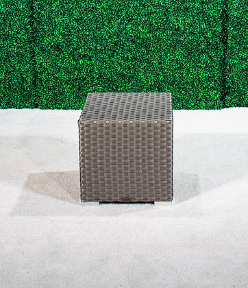 Feruci Grey Small Side Table (Cube)