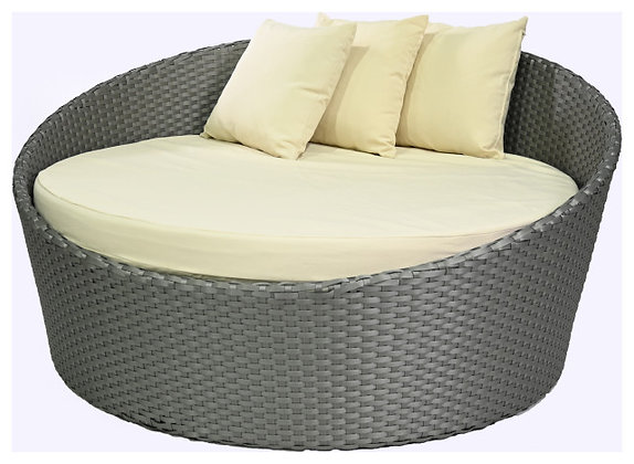 Feruci grey round bed