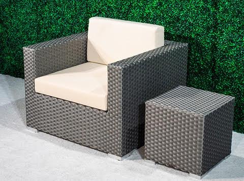 Feruci grey club chair