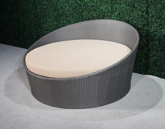 Feruci grey round bed
