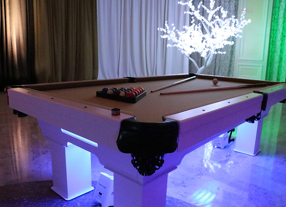 White Traditional Pool Table