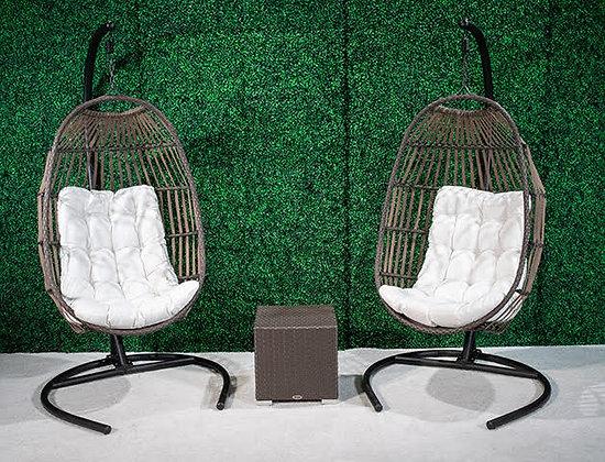 Feruci single swing oval chair