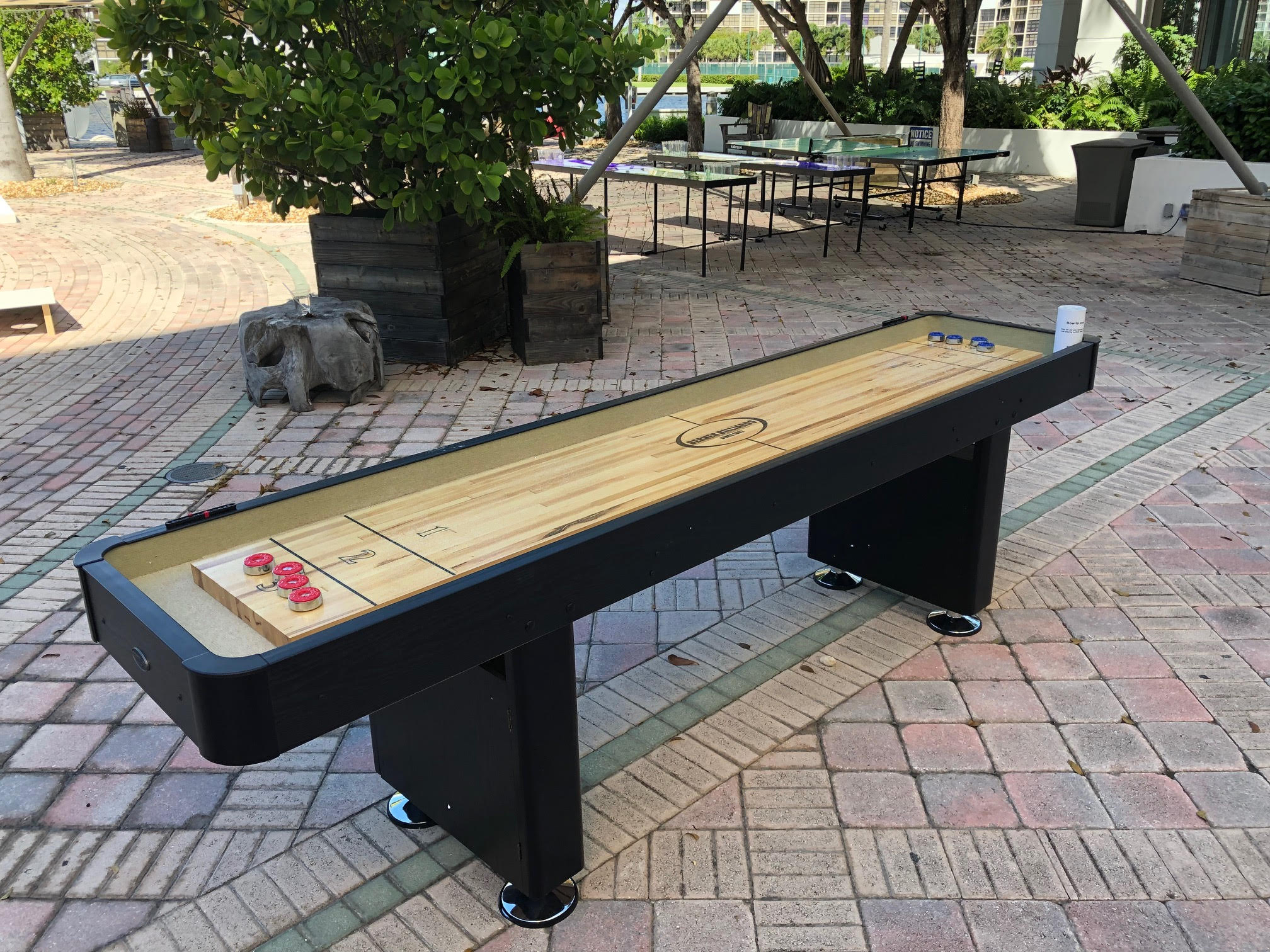 9' Maple Wood Shuffleboard table 2