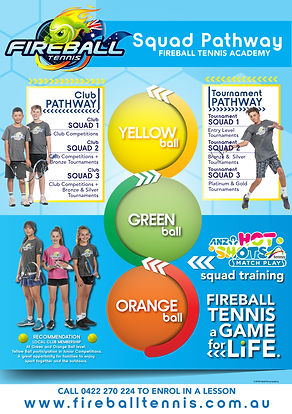 Fireball Tennis Academy - Melbourne Tennis Lessons - Tennis Squad Pathway