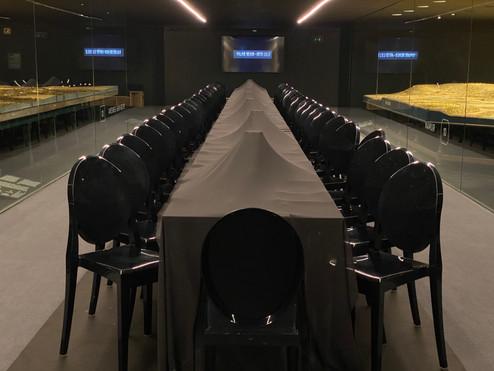 Diner au coeur des plans relief du palais des Beaux Arts de Lille