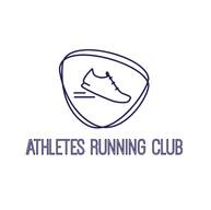 Athlete Running Club Logo Box Mensuelle