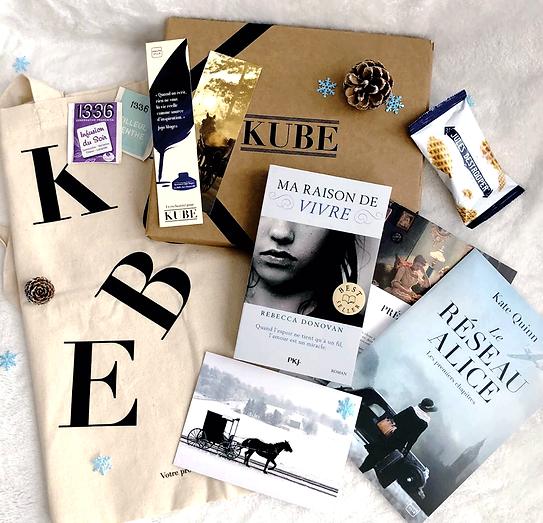 La Kube, c'est une box de lecture sur-mesure contenant un livre choisi spécialement pour vous par un libraire indépendant.