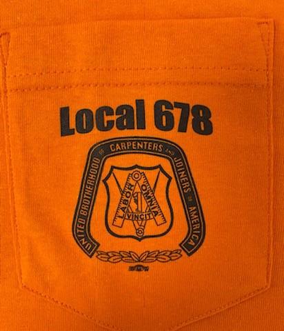 Orange Longe Sleeve Shirt Front Chest